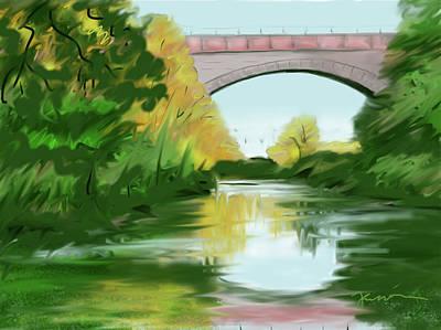 Echo Bridge Art Print