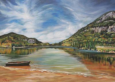 Echo Lake In Franconia Notch New Hampshire Art Print