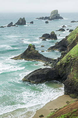 Photograph - Ecola Rocky Shore by Tim Newton