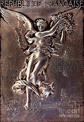 Relief - edal for the Paris Olympics 2 by Frederic Charles Victor de Vernon