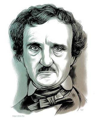 Mixed Media - Edgar Allan Poe 2 by Greg Joens