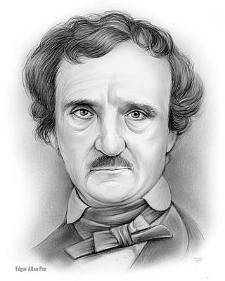 Drawings Rights Managed Images - Edgar Allan Poe Royalty-Free Image by Greg Joens