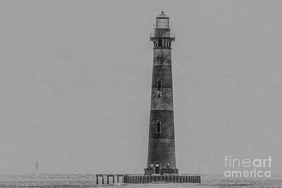 Photograph - Edge Of America - Morris Island Lighthouse In Charleston by Dale Powell