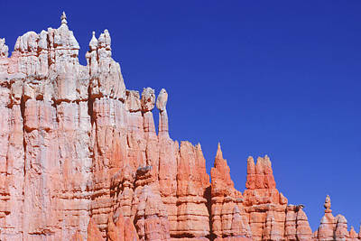 Blue Background Photograph - Edge Of Red Rock Canyon With Blue Sky by Design Pics