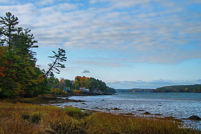 Photograph - Edgecomb Maine by Tim Kathka