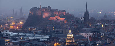 Photograph - Edinburgh Castle In The Rain by Karsten Moerman