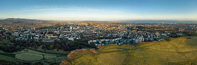 Fantasy Royalty-Free and Rights-Managed Images - Edinburgh from Salisbury Crags by Dave Bowman