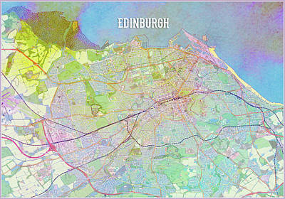 Digital Art - Edinburgh by Gary Grayson