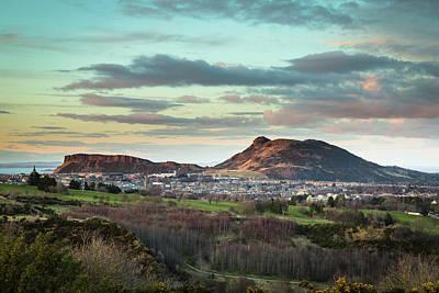 Photograph - Edinburgh late evening view by Diarmid Weir