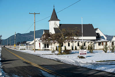 Photograph - Edison Church Amidst Snowy Fields by Tom Cochran