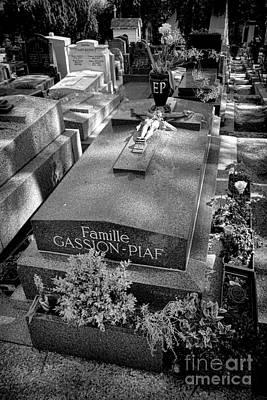 Photograph - Edith Piaf Grave  by Olivier Le Queinec