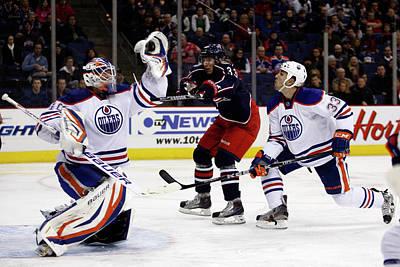 Photograph - Edmonton Oilers V Columbus Blue Jackets by John Grieshop