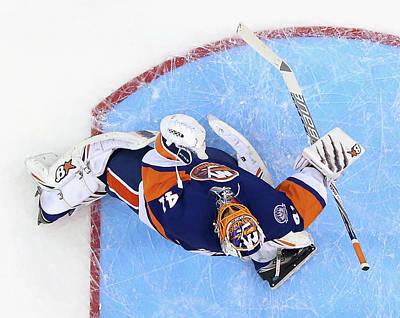Photograph - Edmonton Oilers V New York Islanders by Bruce Bennett