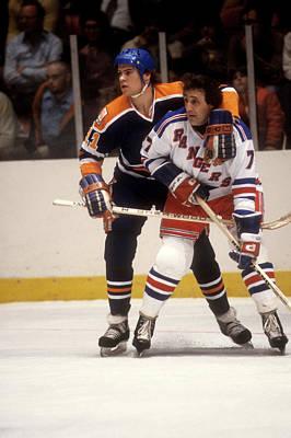 Photograph - Edmonton Oilers V New York Rangers by B Bennett