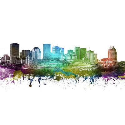 Digital Art - Edmonton Skyline for Kerri by Aged Pixel