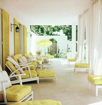 Photograph - Edward Molyneux's Patio In Montego Bay by Horst P. Horst