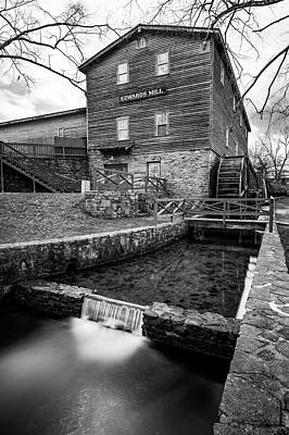 Photograph - Edwards Mill At College Of The Ozarks - Monochrome Edition by Gregory Ballos