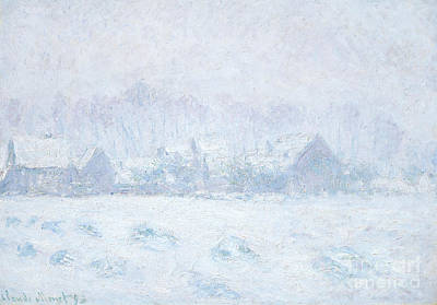 Painting - Effet De Neige A Giverny by Claude Monet
