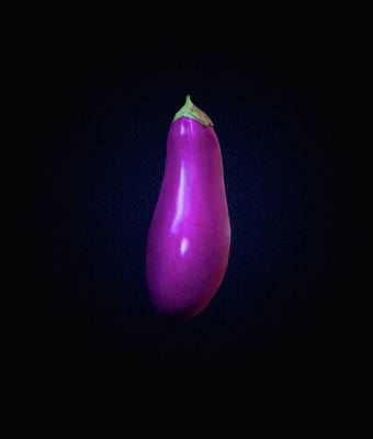 Photograph - Eggplant On Dark Background by Rich Lapenna