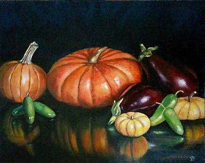 Image result for paintings and artwork aubergines and pumpkins""