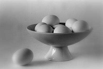 Photograph - Eggs And Bowl by Allen Beatty