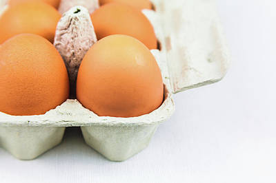 Photograph - Eggs In A Carton Closeup by Jeanette Fellows