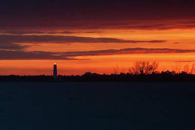 Egmont Key Lighthouse Sunset Art Print