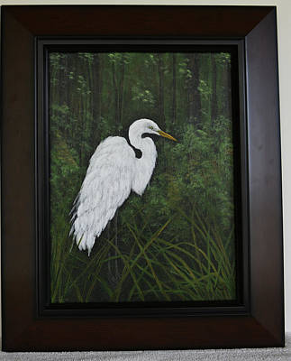 Painting - Egret by Gloria Johnson