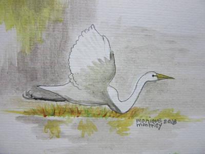 Painting - Egrit  by Monique Montney