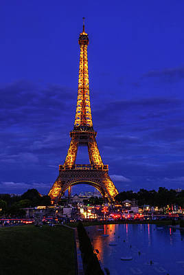 Royalty-Free and Rights-Managed Images - Eiffel at Twilight by Andrew Soundarajan