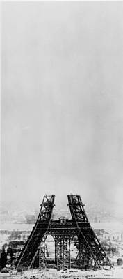 Photograph - Eiffel Construction 5 by Henry Guttmann Collection