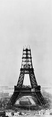 Photograph - Eiffel Construction 8 by Henry Guttmann Collection