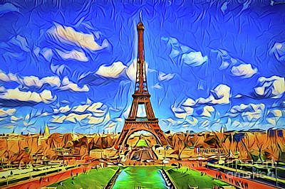 Painting - Eiffel Tower A18-17 by Ray Shrewsberry