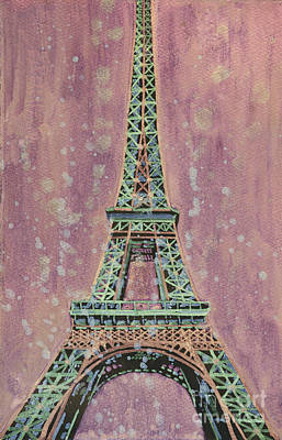 Painting - Eiffel Tower- France by Ryan Fox