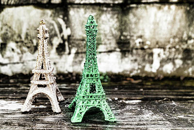 Photograph - Eiffel Tower Green by Sharon Popek