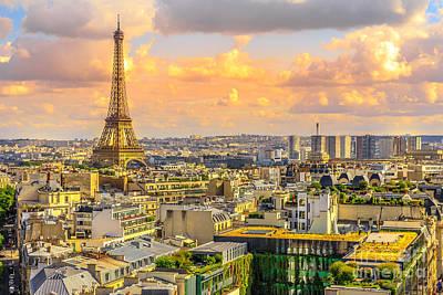 Photograph - Eiffel Tower Skyline by Benny Marty