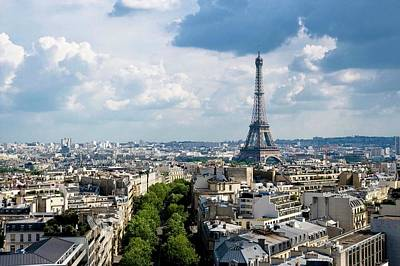 City Life Photograph - Eiffel Tower View From Arc De Triomphe by Keith Sherwood
