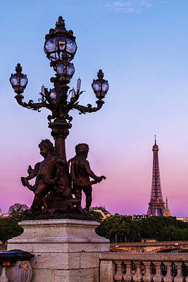 Royalty-Free and Rights-Managed Images - Eiffel View at Dusk by Andrew Soundarajan