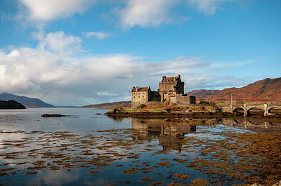Scottish Highlands Wall Art - Mixed Media - Eilean Donan Castle by Smart Aviation