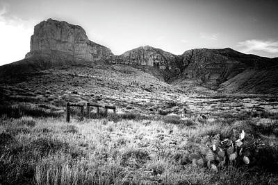 Photograph - El Capitan At Sunset Guadalupe Mountains by Kim Kozlowski Photography, Llc
