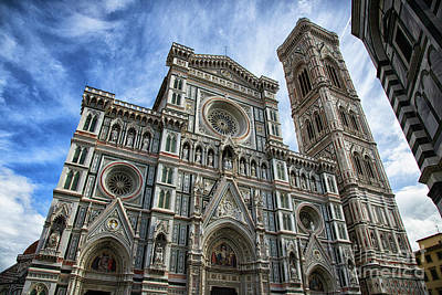 Photograph - el Duomo The Florence Italy Cathedral Front Facade Majesty by Wayne Moran