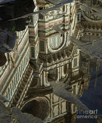 Photograph - el Duomo The Florence Italy Cathedral Reflections by Wayne Moran