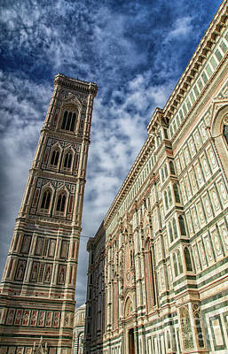 Photograph - el Duomo The Florence Italy Cathedral Side and Tower by Wayne Moran