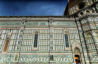 Photograph - el Duomo The Florence Italy Cathedral Side View by Wayne Moran