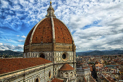 Photograph - el Duomo The Florence Italy Cathedral View from Tower by Wayne Moran
