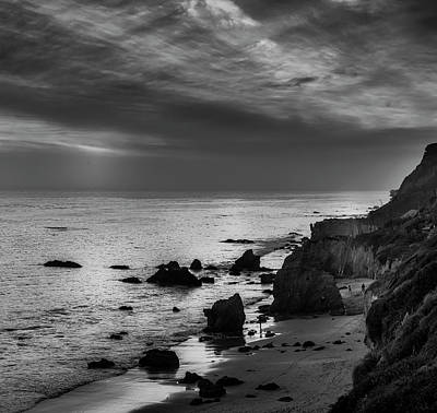 Photograph - El Matador Beach - B W by Gene Parks