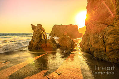 Photograph - El Matador Beach Sunset by Benny Marty