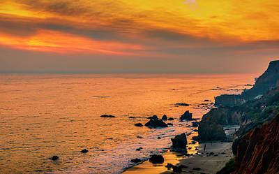 Photograph - El Matador Golden Hour by Gene Parks