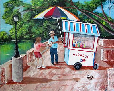 Painting - El Piraguero by Luis F Rodriguez