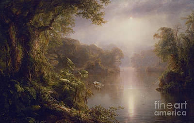 Painting - El Rio De Luz  The River Of Light, 1877 by Frederic Edwin Church